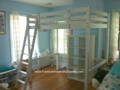 ikea stora loft bed assembly service in DC MD VA by Furniture assembly Experts LLC call (202) 787-1978