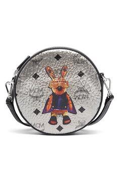 MCM 'Rabbit' Coated Canvas Crossbody Bag. #mcm #bags #shoulder bags #leather #canvas #crossbody #metallic #