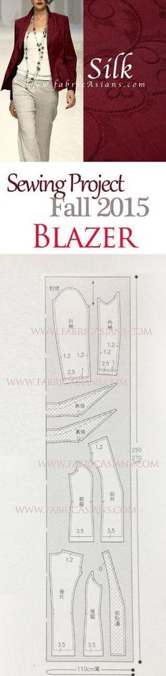 How to sew Blazer? blazer pattern by beemon. great