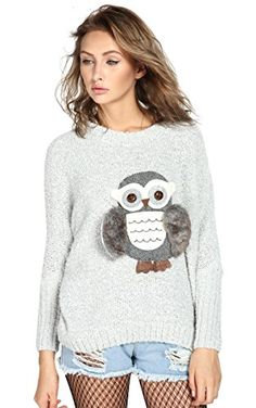 Super Cute and Comfy Owl Sweater! Love the furry wings :)