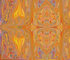 heartsgold__ fabric by luv2silkpaint on Spoonflower - custom fabric