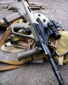 Manufacturer: Steyr Mod. AUG A1 Caliber - Calibre: 5.56mm Nato Type - Tipo: Rifle Capacity - Capacidade: 30 Rounds Barrel length - Comp.Cano: 16 Weight - Peso: 3,8...