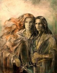 Maedhros and Fingon by Ivanneth