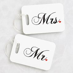 Create lasting Wedding memories with the Mr. and Mrs. Personalized Luggage Tags. Find the best personalized wedding gifts at PersonalizationMall.com