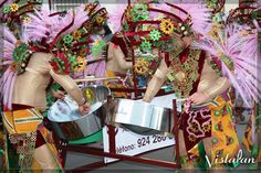 Las Monjas performs with their VistaPan steel pans at the Carnival celebration in Badajoz, Spain.