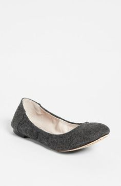 If you like ballet flats, this Vince Camuto one is so smart with a grey flannel upper