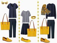 Integrating a New Accent Color: A Yellow Handbag