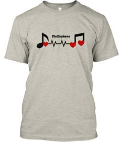 Mellophone - Heartbeat Tee - Black/Red   Teespring