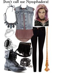 """Nymphadora Tonks :)"" by sarah-horan777 ❤ liked on Polyvore"