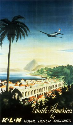 KLM Royal Dutch Airlines poster for South-America-1947