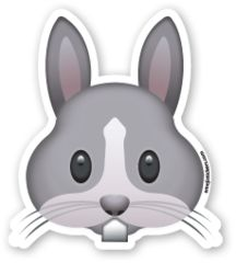 Rabbit Face | Emoji Stickers