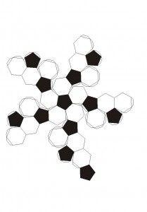 Icosaedro truncado.recortable figuras geometricas bidimensionales