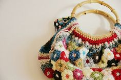 Diaper Mum : Puff Flower Crochet Bag