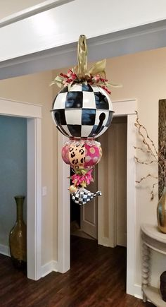 Christmas Kissing Ball Decor Ornament Giant by LucyDesignsonline