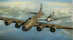 The true story of a German fighter pilot who decided to let a heavily damaged B-17 return home. You will find the full history at this link: http://www.cnn.com/2013/03/09/living/higher-call-military-chivalry/index.html?hpt=hp_c1