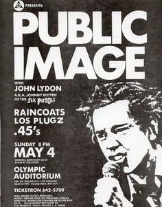 PiL, Public Image Limited punk hardcore flyer