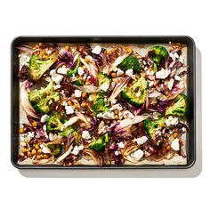 Roasted Broccoli, Radicchio, and Chickpeas - one pan meal