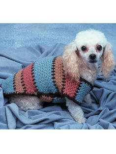 FREE PATTERN...Crocheted using sport and worsted yarns. Size: for toy-size, small, medium and large dogs.Skill Level: Average