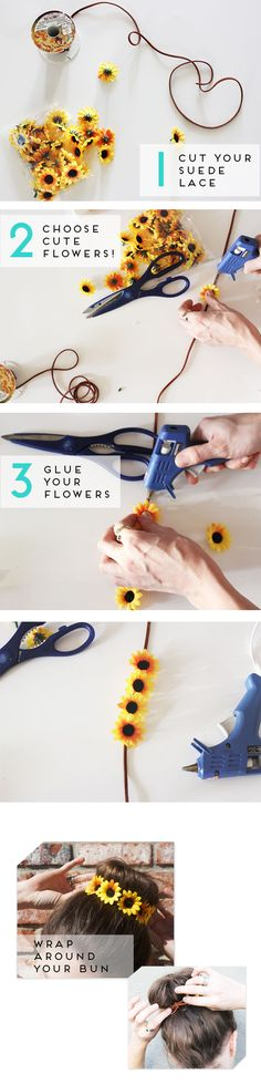 maybe as a belt, wrist wrap, or other accessory GUEST POST: DIY FLORAL BUN WRAP - The Skinny Blog