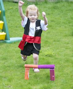 Olympic hurdles and a chocolate medal - fun ideas for your Olympics party!