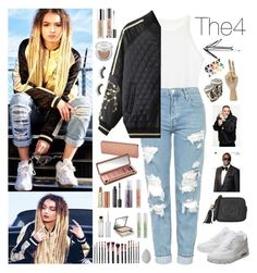 """""""Zhavia"""" by ayahb on Polyvore featuring Topshop, NIKE, Urban Decay, Sephora Collection, M.O.T.D Cosmetics, beautyblender, Gucci and Jayson Home"""