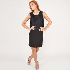Vestido preto com aplicação de franjas + Scarpin com brilhos. #moda #look #outfit #ootd #lnl #looknowlook