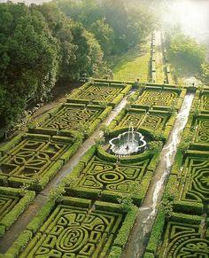 Maze Gardens at Ruspoli Castle Northern Lazio - Italy