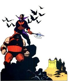 Juggernaut & Black Tom Cassidy by Mike Mignola. From X-Men Classic.