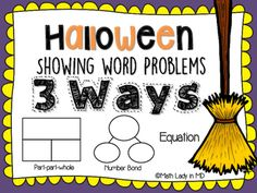 1st Grade Halloween Word Problems - Show It 3... by Math Lady in MD | Teachers Pay Teachers