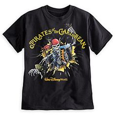 Pirates of the Caribbean Tee. I have the one from Disneyland. It has the skeleton's lower half on the back and it glows.