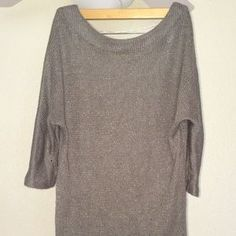 I just discovered this while shopping on Poshmark: Lightweight purple tunic/dress sweater. Check it out! Price: $19 Size: L