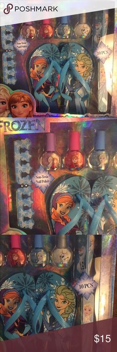 Frozen My Beauty Spa Kit NWT Frozen My beauty Sp kit   4 nail polishes. 2 toe spacers. 1 nail buffer. 1 nail file and 1 pair of sandals Other