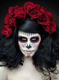 Death Rose Sugar Skull