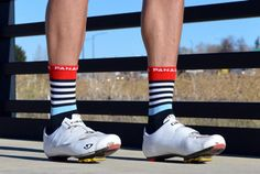 Panache Team Stripes Red/Blue http://www.bicycling.com/bikes-gear/apparel/the-coolest-new-cycling-socks-for-2016/panache-team-stripes-redblue