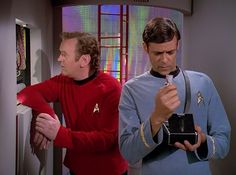 O'Brien and Bashir try to fit in, from the DEEP SPACE 9 episode  'Trials and Tribble-ations'
