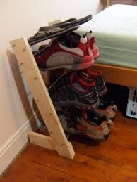 Image result for home made shoe rack