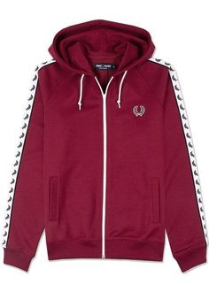 c86bbee960f Fred perry lurel tape men's hooded track top hoodie size.m -- j9520 106