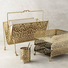 If you've been crushing on those impossibly cute office accessories at Anthropologie, now is the time to buy! With this amazing sale, you've definitely struck gold. Get these glitzy and gorgeous desk items while you still can.