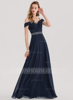 2078226612c1 A-Line Princess Sweetheart Floor-Length Chiffon Prom Dress With Beading  Sequins - JJsHouse