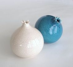 Etsy: Gallery-Worthy Vases: The small openings on these ceramic vases ($28 each) appear to be blooming.