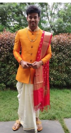 New look Indian Marriage Dress, Marriage Dress For Men, Wedding Dresses Men Indian, Wedding Dress Men, Indian Weddings, Wedding Couples, Wedding Ideas, Mens Indian Wear, Mens Ethnic Wear