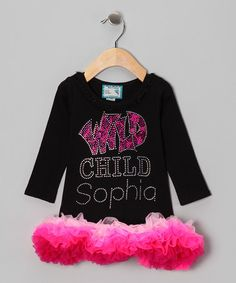 Take a look at this Black Personalized Tutu Dress - Infant, Toddler & Girls by Personalized Style: Apparel & Accents on #zulily today!