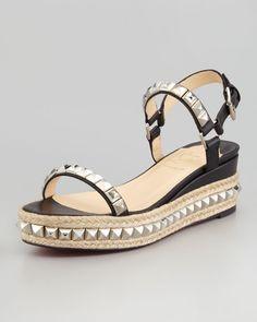 Christian Louboutin - Cataclou Flatform Sandal, Black