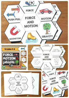 These foldables will help your students understand force and motion. Differentiated versions are included to meet the needs of ALL your students. Six  definitions are included ( force, motion, gravity, friction, magnetism and push/pull). Grades 3-5 (grade 6 review).