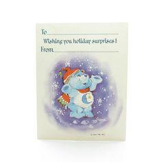 Bedtime Bear Gift Tag Care Bears Christmas by BrownEyedRoseVintage