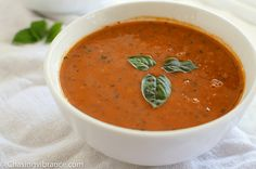 Vegan Tomato Soup Recipe Enjoy this Gluten-free, Dairy-free, Whole 30 and Healthy tomato soup recipe! Delicious and Creamy and oh so easy to make! Homemade tomato soup for the win! #tomatosoup #tomatosouphomemade #veganrecipes #dairyfreerecipes #glutenfree #vegan #paleo #whole30 Healthy Tomato Soup Recipe, Homemade Tomato Basil Soup, Vegan Tomato Soup, Tomato Soup Recipes, Healthy Soup Recipes, Vegetarian Recipes, Curried Butternut Squash Soup, Vegan Comfort Food, Grass Fed Butter