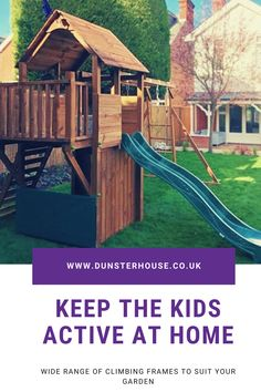 Fuel your children's imagination with our wooden climbing frames and play houses. Wooden Climbing Frame, Climbing Frames, Garden Frame, Buried Treasure, Garden Buildings, Run Around, Heart For Kids, Play Houses, Cabin