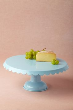 Scalloped Cake Stand, Blue in Décor For the Table at BHLDN