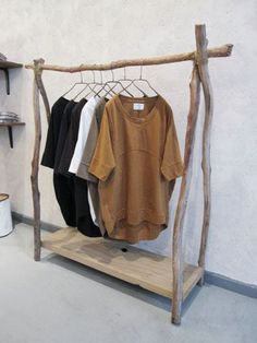 Rustic Wood Clothes Rack - clothes shopping online cheap, local clothing stores, woman to woman clothing *ad