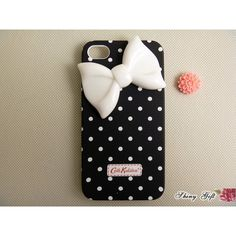 iPhone 4 case, iPhone 4s case, cute iPhone 4 case, bow iPhone 4s case,... ($19) ❤ liked on Polyvore